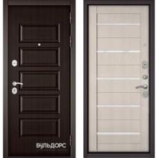 Входная дверь - MASS-90(РР Ларче шоколад 9S-108 / Ларче бьянко CR-3 Lakobel White )