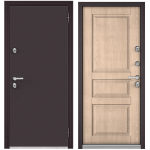 Входная дверь - ТЕРМО-100 Букле шоколад/Дуб Крем 10 ТD-2
