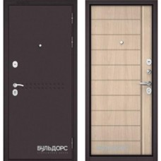 Входная дверь - MASS-90 - Букле шоколад R-4 /Ясень ривьера крем 9S-136