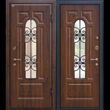 Входная дверь - Входная дверь МеталЮр М30 (темный орех)