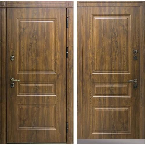 Входная дверь - Снедо Сибирь Термо Премиум 3К (Тёмный дуб / Тёмный дуб)