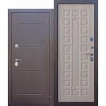 Входная дверь - 11 см Isoterma медный антик Лиственница мокко Терморазрыв