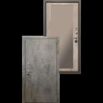Входная дверь - Ратибор Тетрис 3К Зеркало Бетон светлый