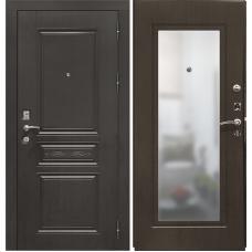Входная дверь - VERDA SD Prof-10 Троя-Зеркало темный орех