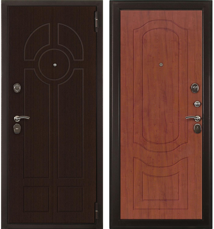 Стильные входные металлические двери